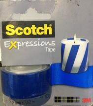 Scotch Expressions Navy Blue Matte Tape C214-BLU2 300 Inches, NEW - $6.81
