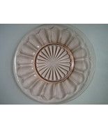 Depression Glass Colonial / Knife & Fork Pink Luncheon Plate - Hocking -... - $10.00