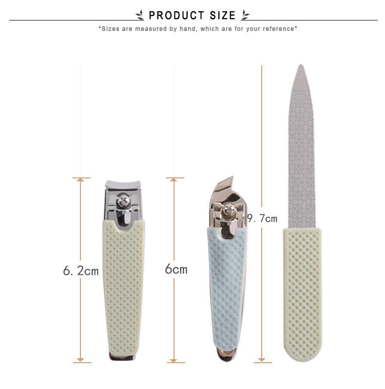 Stainless Steel Nail File Clipper Trimmer Set Fingernail Cutter Clippers Tools image 7