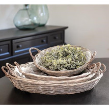 4/Set Gray Willow Round Baskets - $82.71