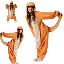 Pokemon Charmander Kigurumi Unisexe Adulte Animal Cosplay Onesies Pyjamas - $43.99