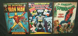 (3) Marvel Dc Détective Comics Étonnant Spider-Man Iron Man Batman Robin Mur Art - $56.37