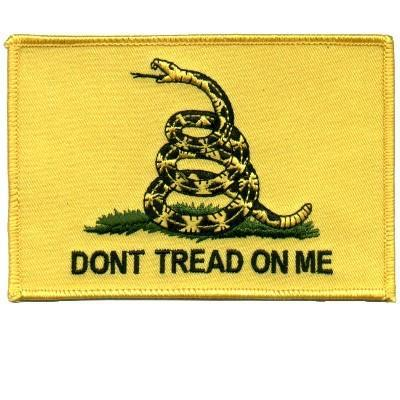 Embroidered Patch Don't Tread On Me Patch