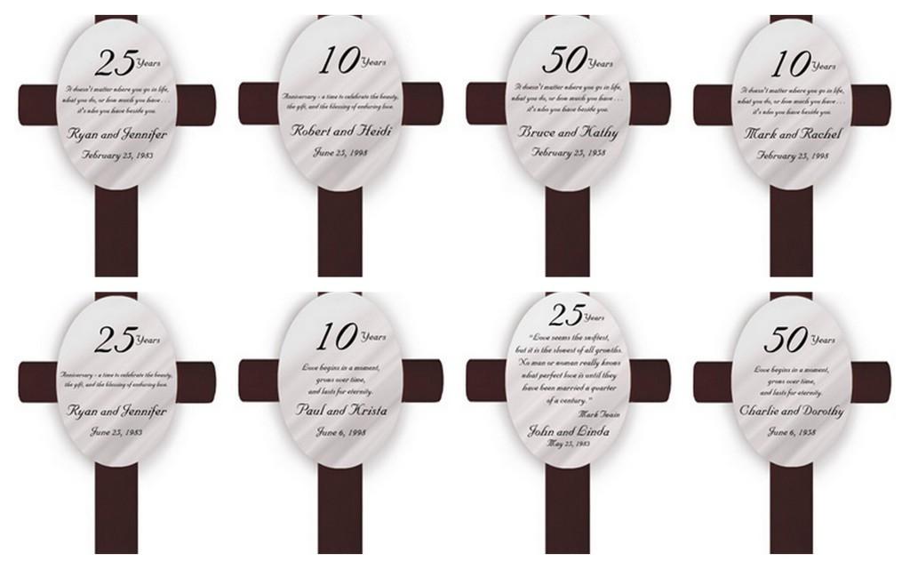 Oval Anniversary Cross - Free Personalization