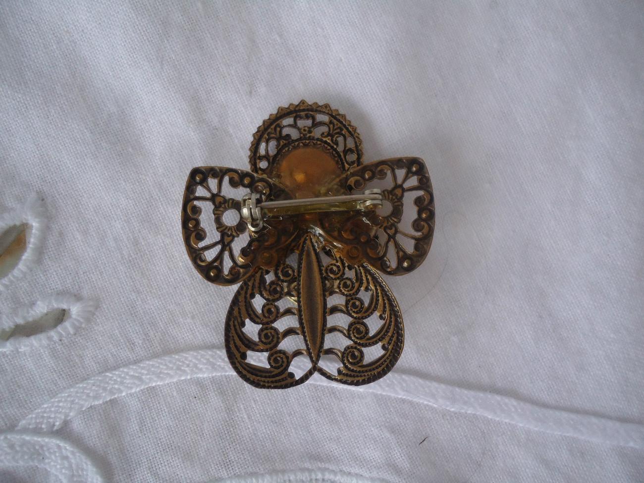 Brass Color Brooch
