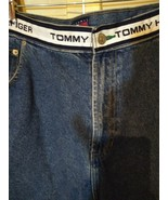 Tommy Hilfiger Denim Jean Shorts Spell Out Waist Band Flag Men's Size 40... - $44.55