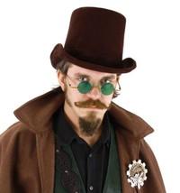 SteamPunk Dark Brown Suede Deluxe Victorian Coachman's Hat NEW UNWORN - $21.28