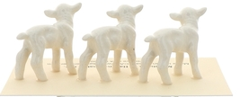 Hagen-Renaker Miniature Ceramic Lamb Figurine Baby White Set of 3 image 4