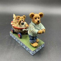 Boyds Bears Resin DRAKE & CAMERON WITH HOPSLEY Bearstone Jim Shore 4020854 - $44.54