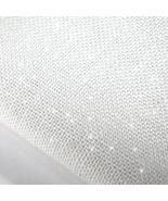 White/Silver Hand-Dyed Effect 40ct Linen 17x19 ... - $13.05