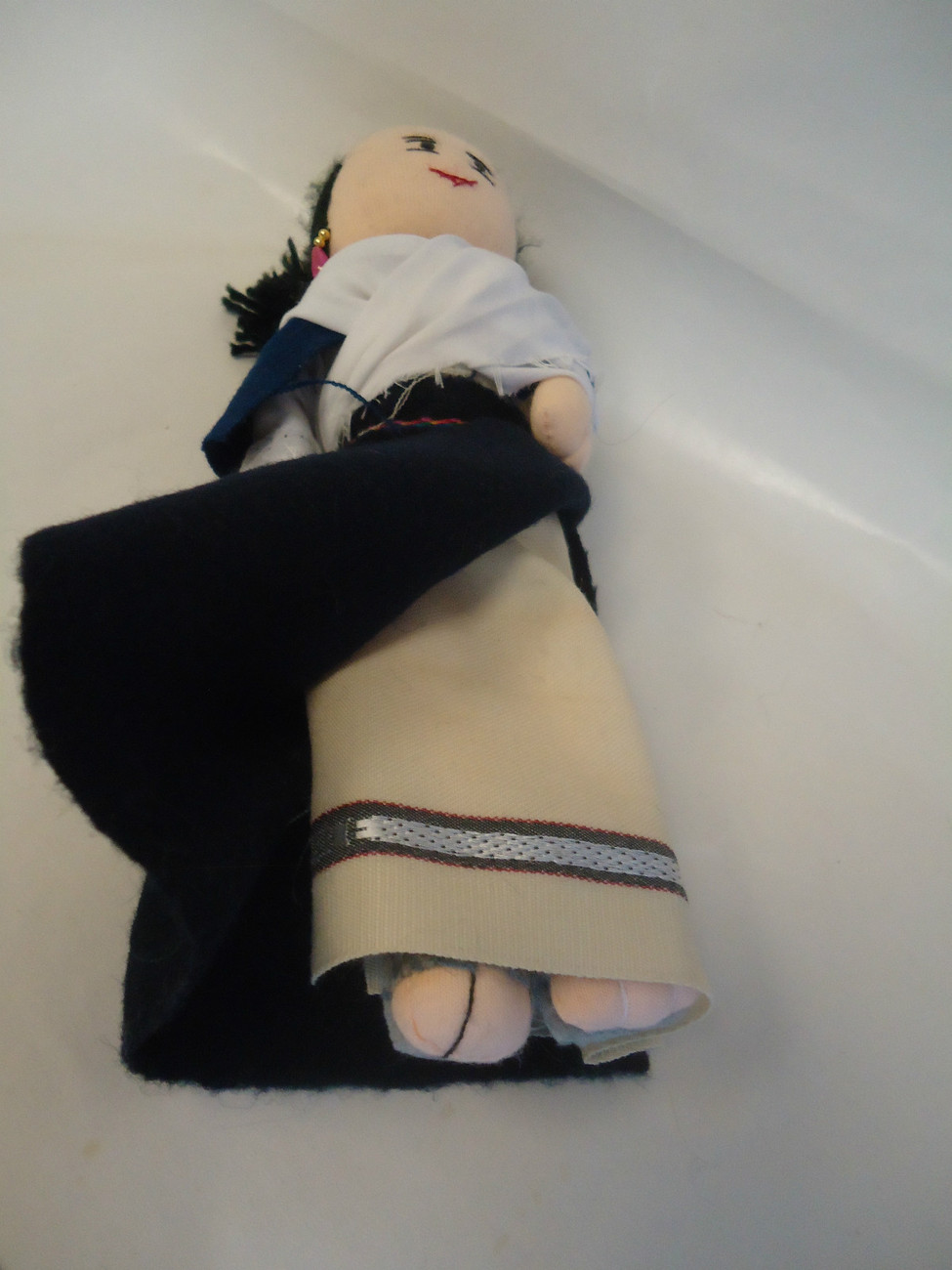 France CLOTH ART DOLL Ettolle Noire