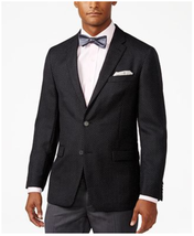 $295 Tommy Hilfiger Men's Classic-Fit Dot-Pattern Sport Coat, Black, Siz... - $88.69