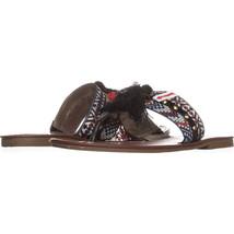 CircusSam Edelman Brice Flat Tassle Sandals, Black Multi, 8 M US - $17.27