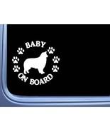 """Baby on Board Aussie L518 6"""" Sticker dog decal - $4.99"""