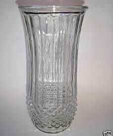 Vintage Vase Hobnail Glass Tall Ribbed Glass Flower Vase 4089A Hoosier Glass 65A