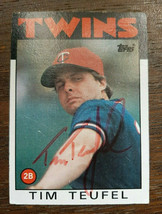x1 1986 Topps #667 Tim Teufel Of The Minesotta Twins Autographed Baseball Card - $3.49