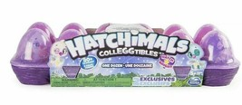 Hatchimals Colleggtibles 12 Pack Season 4 Hatch Bright Mystery Purple Egg Carton - $19.79