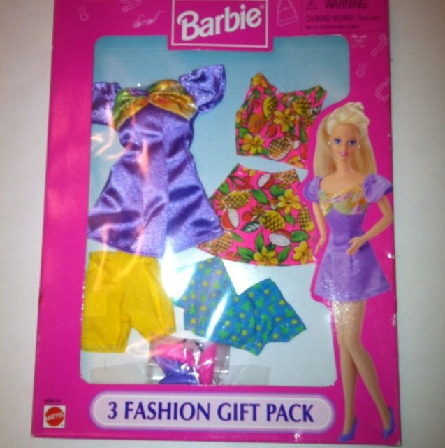 1997 STYLES FOR DAY & NIGHT BARBIE 3 FASHION  GIFT PACK #68585-94 brand new