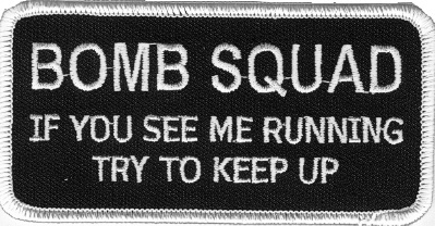 Embroidered Patch Bomb Squad Patch