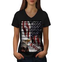 American Eagle Flag USA Shirt Eagle Flag Women V-Neck T-shirt - $12.99+