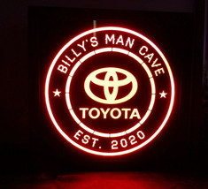 Custom Toyota LED Sign Personalized, Home bar pub Sign, Lighted Sign, ma... - $60.00