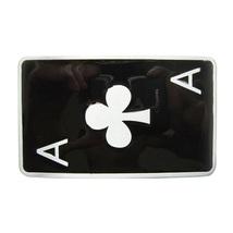 Jean's Friend New Vintage Ace Spade Poker Card Enamel Belt Buckle Gurtelschnalle - $8.39