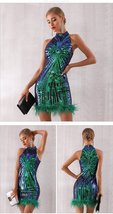 New Summer Runway Sleeveless Fashion Sequin Mini Dress image 2