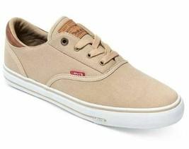 Levi's Men's Ethan Canvas II Sneakers, Khaki, Size US 8M - $29.21
