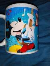 Rare Vintage Walt Disney Mickey Rocks Coffee Mug - $14.01
