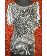 UMGEE black paisley  unusual constructed blouse S (T3102D8G) - $9.88