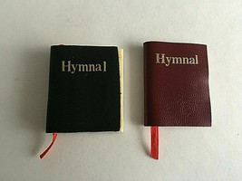 "Doll House Miniatures Hymn Books  Lot of 2  1.5"" X 1"" X .25"" - $7.87"