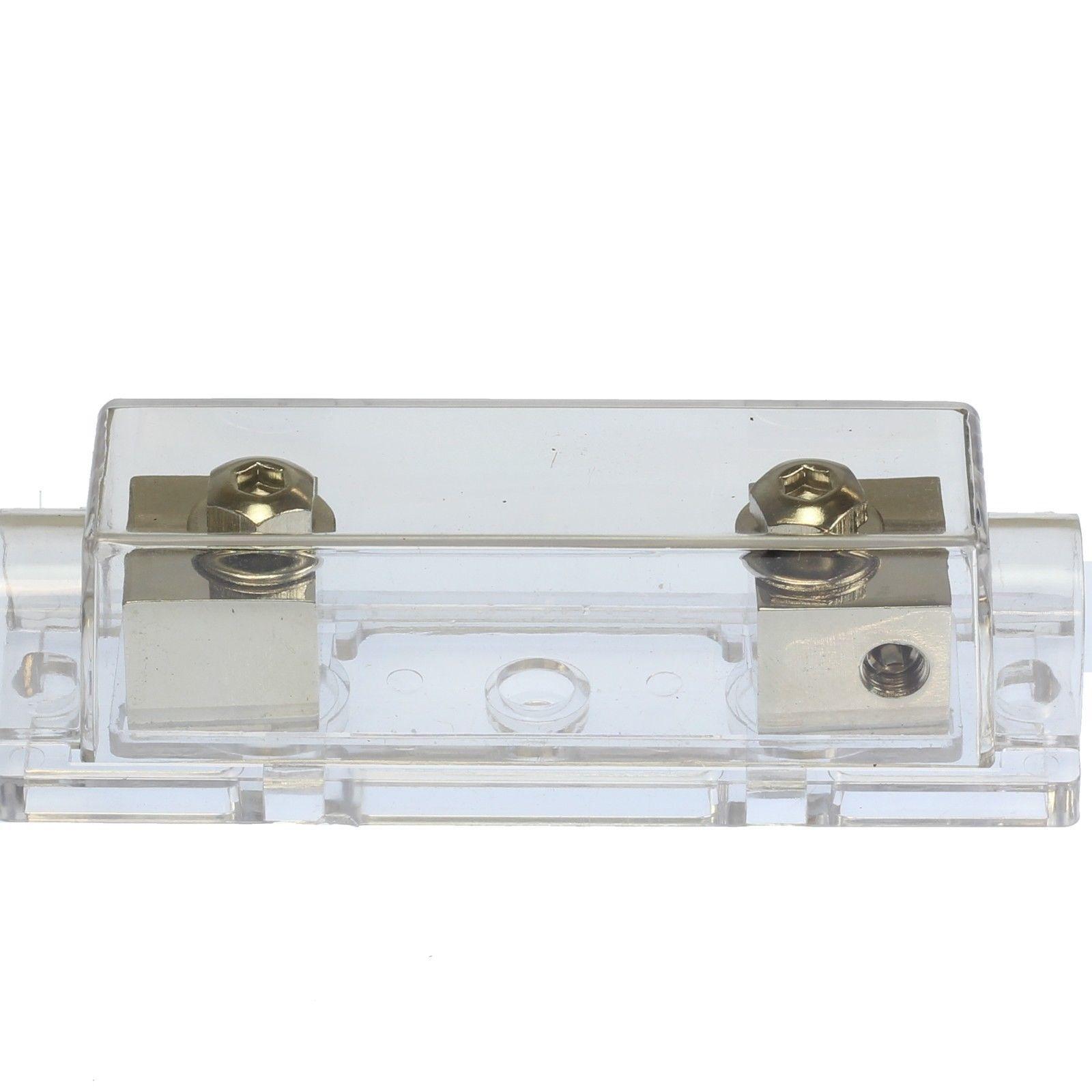 400 AMP ANL Fuse /& 3 Inline Fuseholder Battery Install Kit 1//0 Gauge 1FT 3