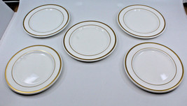 Wedgwood Metallised Bone China Bread & Butter Side Plates Dish 15.5 cm Set of 5 - $50.57