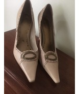 BCBG Girls Leather Tan  Pointed Toe Signature Heels Pumps Size 38.5/8.5B... - $25.00