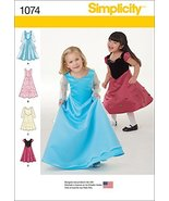 SIMPLICITY 1074 Toddlers' & Child's Dress in Two Lengths Sewing Template... - $4.40