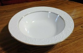 "Mikasa TUSCAN GOLD 10.5"" Vegetable Serving BOWL Embossed Scrolls Gold Greek Key - $6.44"