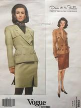 RARE Vogue Designer Oscar de la Renta Jacket & Skirt Size 8-12 Pattern 2998 - $24.75