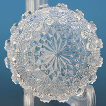 Vintage EAPG Pressed Glass Open Salt Lacy Daisy with Spoon image 3