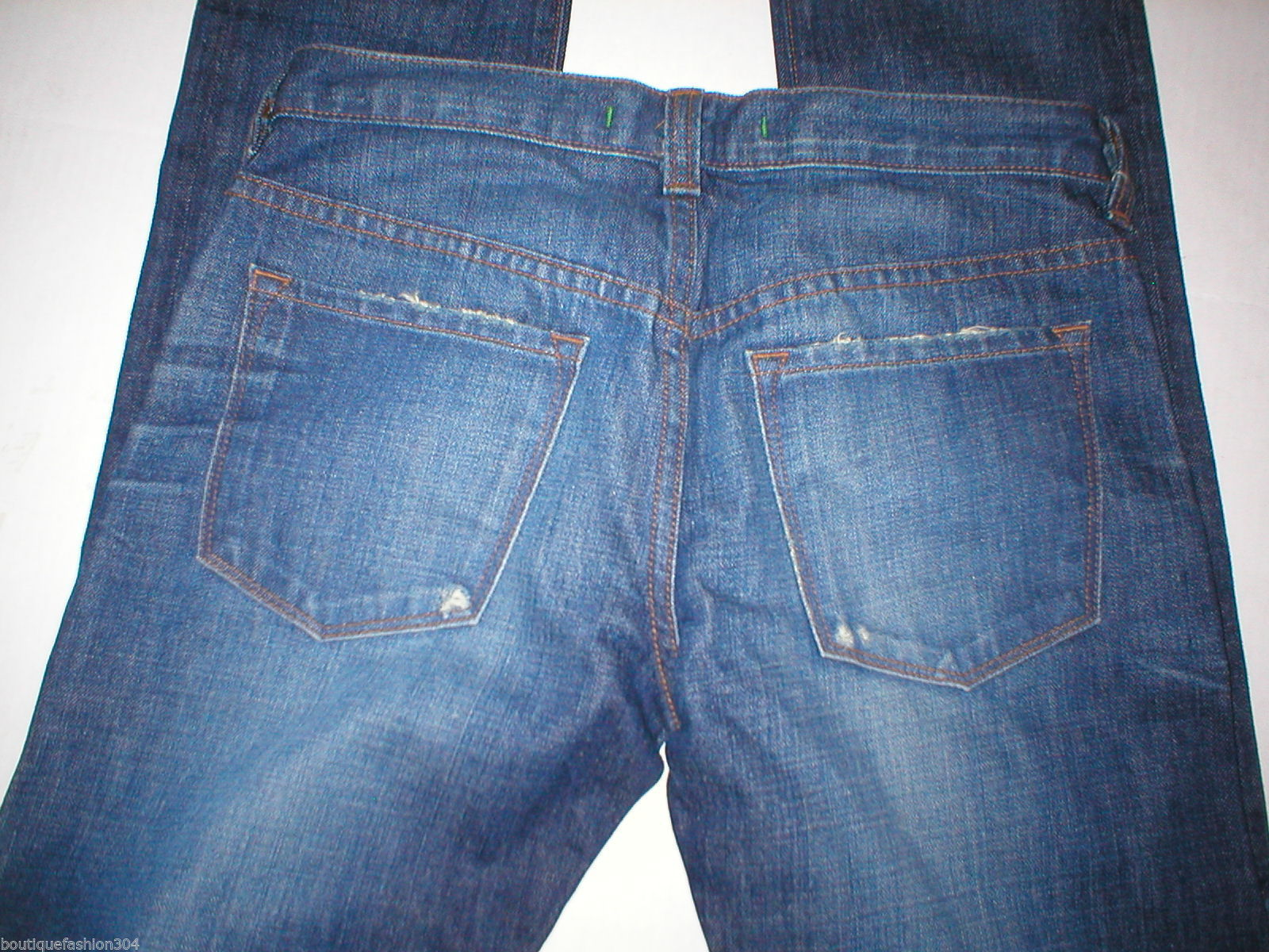 Destroy J Brand Jeans New 25 Distressed Tall 27 X 35 Womens Skinny Straight Dark image 4