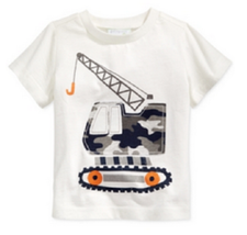 First Impressions Baby Boys' Long-Sleeve Forklift T-Shirt,Angel White,Size 6-9 M - $8.99