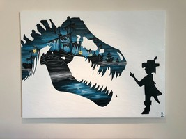 """Treasure Paintings JR Bissell: """"Dare to DREAM."""" T-Rex Pirate Gold Coins ... - $49,950.00"""