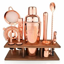 Bartender Kit Copper 11 Piece - Copper Parisian Cocktail Mixology Set - ... - $38.83