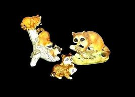 Raccoon Figurines AB 522 Collection of 3 Vintage image 3