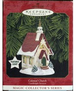 Hallmark Keepsake 1999 Colonial Church Candlelight Services MAGIC with l... - $6.23