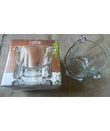 Vintage Italy Bormioli Rocco Capitol Ice-Bucket w. Silver Plated Handle ... - $25.00