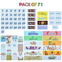 Classroom Calendar Pocket Chart Cards Numbers Days Months and Years Headlines 20