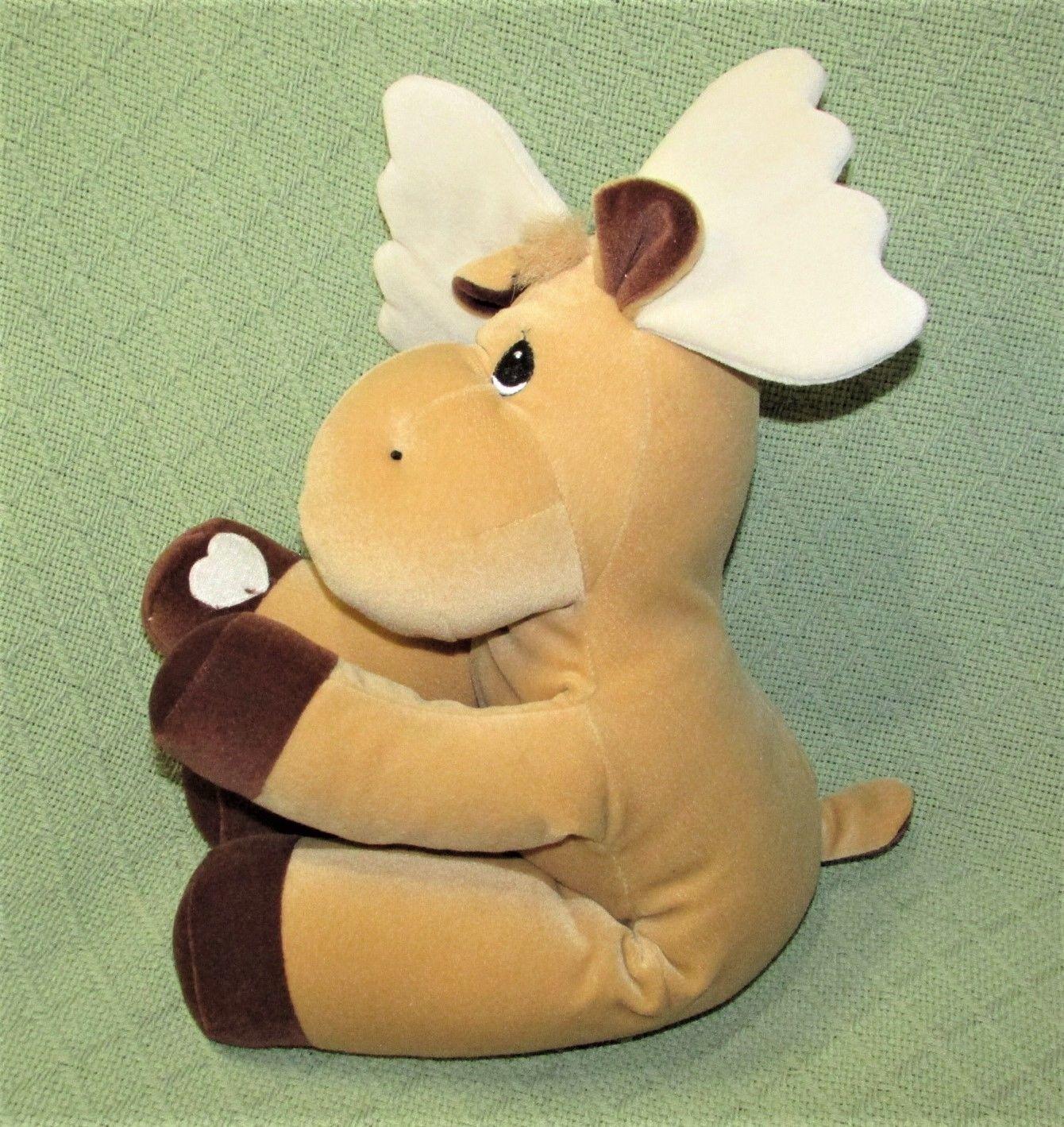 "Enesco TENDER TAILS MOOSE 12"" Plush PRECIOUS MOMENTS Stuffed Animal Sticky Hands"