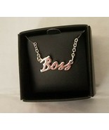 Avon Boss Necklace Silvertone New In Giftable Black Box - $9.90