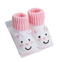 White Cat Toddler Anti Slip Skid Shocks Baby Stockings Newborn Infant Shoes