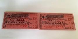Vintage Ticket Stub Collage Football 1930 Cornell Versus Pennsylvania - $15.00